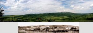Zdjęcia dolne – panorama Polany z lat 50. XX w., zdjęcie górne – panorama współczesna (2009 r.)